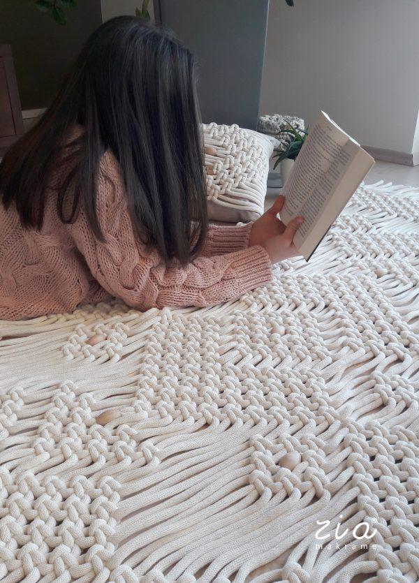 makramé ágytakaró