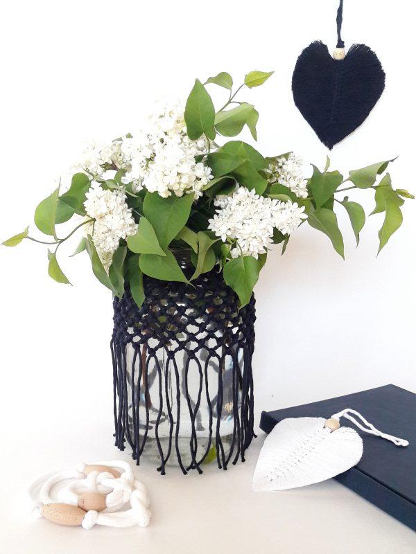 makramé váza